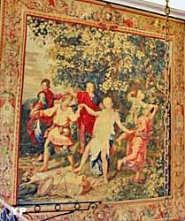 Hôtel de Bourvallais - Danse des nymphes (tapisserie des Gobelins)