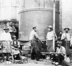 Installation d'un réservoir