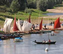 gabares à Montjean-sur-Loire (doc. D. Drouet / CDTA)