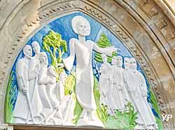 Tympan de l'église d'Annet-sur-Marne