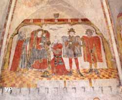 Chapelle de Beaumont - l'adoration des Mages (doc. Association des Amis de la Chapelle de Beaumont et du Chatelard)