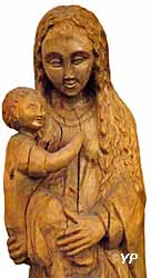 Vierge à l'enfant, bois de houx (curé Moineau, XXe s.)