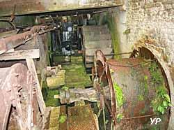 Roues à augets (doc. Moulin de Tallard)