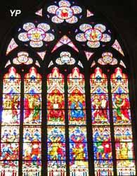 Le Martyre de saint Étienne, vitrail du transept sud (Édouard Didron)