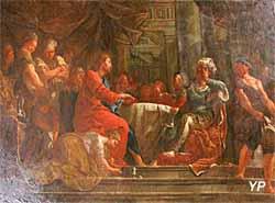 Le repas chez Simon, copie de Franz-Anton Krauze, 1736, d'après Jean-Baptiste Jouvenet