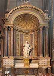 Autel Sainte Marguerite, statue de Jacques Bourlet (XVIIe s.)