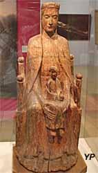 Vierge à l'enfant (bois polychrome, XIIe s.)