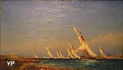 Lagune dans la Méditerranée (Félix Ziem, XIXe s.)