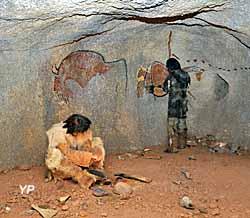 Le Thot - une scène de Cro-Magnon (Semitour Périgord)