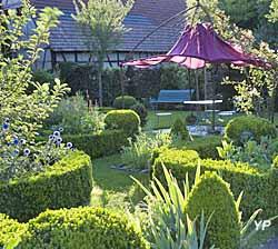 Jardin régulier, la tonnelle