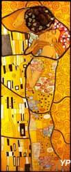 Le baiser, d'après Klimt (Corinne Flanet) (Musée du Vitrail)