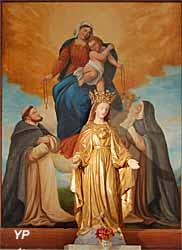 Vierge devant tableau du rosaire