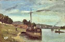 Péniche sur la Seine (Camille Pissarro, 1864) (Musée Camille Pissarro)