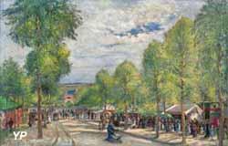 Fête, boulevard des Fossés, Pontoise, (Ludovic Piette, 1877)