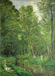 Sous-bois à Valmondois (Charles-Francois Daubigny, 1877)