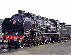La locomotive 231 G 558 au dépôt de Sotteville-lès-Rouen (Marcel Delrue)