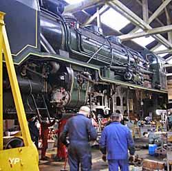 Locomotive en cours de Grande Révision au dépôt de Sotteville-lès-Rouen