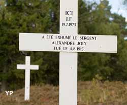 Emplacement d'exhumation de soldats français