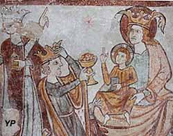 Église Saint-Laurent-et-Notre-Dame - L'adoration des rois mages (fresque du XIIIe s.)