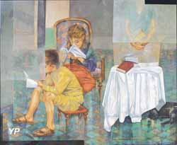 La salle d'étude, exposition Dalva Duarte