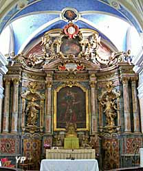 Autel et son retable baroque