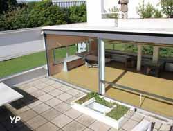 Villa Savoye, jardin suspendu et séjour