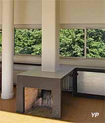 Villa Savoye, cheminée du séjour