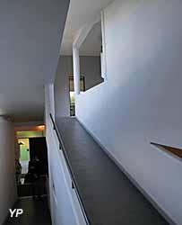 Villa Savoye, rampe recouverte de linoléum