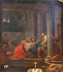 Cathédrale Notre-Dame du Puy - Le Sauveur lavant les pieds de ses apôtres (Jean-Honoré Fagonard)
