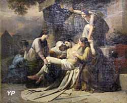 Saint Sébastien soigné par Irène et ses servantes (François-Xavier Dupré, 1838)