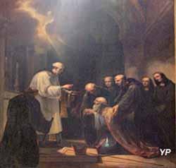Saint Bernard recevant le Viatique (Joseph Chabord, 1843)