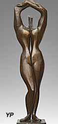 François Bouché, Nu aux bras levés, bronze (doc. Musée Regards de Provence)
