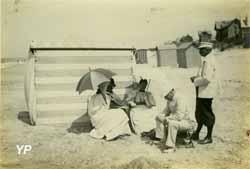 Edouard LEVEQUE, A l' abri du vent, 1895