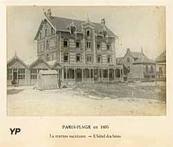 Edouard LEVEQUE, La station balnéaire − L'hôtel des bains, 1895