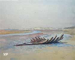 Charles BERNIER, Marine, Le Touquet, 1900