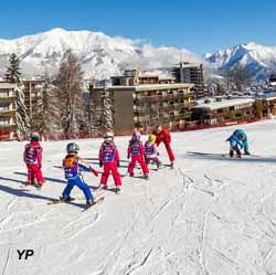 Station de Pra Loup - école de ski (doc. Bertrand Bodin)