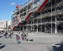 parvis du Centre Pompidou