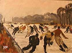 Patineurs sur le Grand Canal (Adrienne Jouclard) - Musée Lambinet