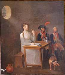 Portrait de Charlotte Corday dans sa prison (Jean-Jacques Hauer) - Musée Lambinet