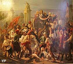Dévouement héroïque de Richaud, maire de Versailles, le 6 septembre 1792 (Jules-Vincent Rigo) - Musée Lambinet
