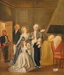 Les adieux de Louis XVI à sa famille, le 20 janvier 1793  (Jean-Jacques Hauer) - Musée Lambinet