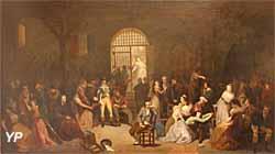 Appel des dernières victimes de la Terreur, au centre le poète André Chénier et à droite Aimée de Coigny (Charles-Louis Muller) - Musée Lambinet