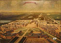 Vue panoramique de Versailles - Musée Lambinet