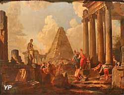 Alexandre le Grand devant le tombeau d'Achille (Hubert Robert) - Musée Lambinet