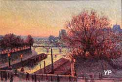 La Seine la nuit, vue de l'atelier de Camille Pissaro (Maximilien Luce) - Musée Lambinet