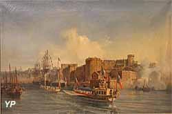 Visite de Napoléon III à Brest, 11 août 1858 (huile sur toile, Auguste Mayer, 1859) - Musée national de la Marine