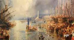 Visite de Napoléon III à Gênes, 1859 (huile sur toile, Théodore Gudin, 1859) - Musée national de la Marine