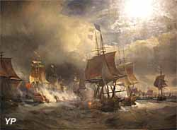 Combat d'Ouessant, 23 juillet 1778 (huile sur toile, Théodore Gudin, 1848)