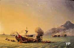 Le combat du Grand Port (huile sur toile, Pierre-Julien Gilbert, 1842) - Musée national de la Marine