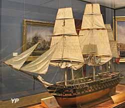 L'Hercule, vaisseau de 100 canons (maquette de 1836) - Musée national de la Marine
